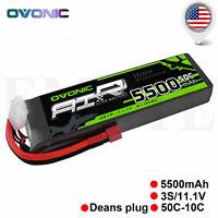 OVONIC 5500mAh 50C 3S 11.1V RC Lipo Battery Deans Plug for Traxxas ERevo 2.0 VXL