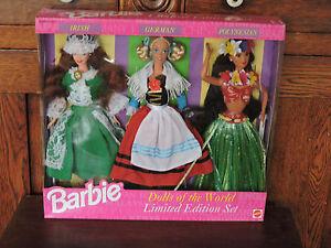 1994 Dolls of the World Barbie Set  Irish/German/Polynesian # 13939
