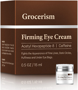 Grocerism Firming Mens Eye Cream for Dark Circles, Puffy Eyes, Under Eye Bags an