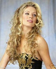 Hot Sexy Women Long Blonde Wavy Curly Cosplay Party Heat Resistant Hair Full Wig