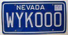 Nevada 2012 VANITY License Plate WYKOOO