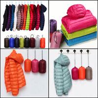 Packable Women's Hoodie Down Jacket Winter Hooded Ultralight Outerwear Coat