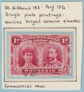 RHODESIA 102c SG 183  USED - NO FAULTS VERY FINE!