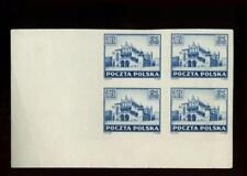 Poland: 1945 Krakow 2zt imperf. block of 4 Mnh