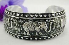 Bracelet size 6-8 Thailand Gorgeous Thai Elephant Aluminum Cuff