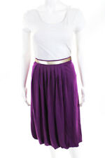 La Perla Womens Sequin Bubble Midi Skirt Purple Gold Size 8