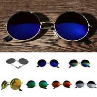 Retro Polarized Steampunk Sunglasses Goggles Round Mirrored Retro Punk Glasses