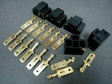 H4 9003 Headlight MALE Plug Socket Adapters + Wire Terminals #GTN x 5 sets