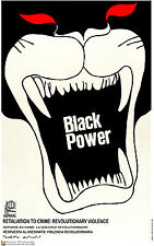 Political POSTER.BLACK POWER.Civil Rights.Black Panther REvolution Art.am22