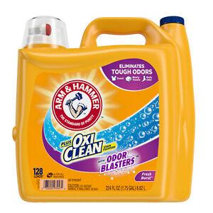 Arm & Hammer Plus OxiClean Odor Blasters Fresh Burst, 128 Loads Liquid 224 Fl oz