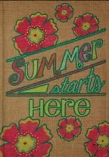 New listing Brand New Summer Garden Flag 12.5x18 inches Never Opened! Double Sided