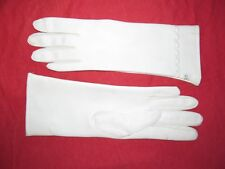 Vintage 1960s Japanese MOD Longer White Vinyl gloves women's size 6