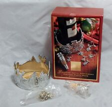 Lenox Yuletide Metal Serveware Holiday Party Pack Wine Caddy, Charms and Stopper