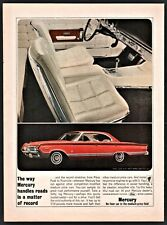 1964 MERCURY Park Lane 4-door Hardtop 60s Sixties Car AD w/white interior photo