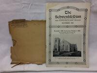 Vintage 1922 The Schwenkfeldian Schwenkfelder Church Philadelphia PA
