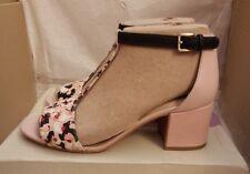 Clarks Barley Belle Ladies Wedge Heel Sandals - Nude Pink Combi - UK 5 D