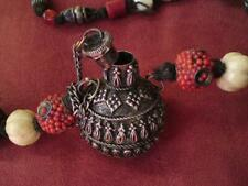 Ethnic & Tribal Jewellery Chinese gemstone & silver beads snuff bottle necklace