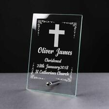 Personalised Christening Gift Keepsake Glass Plaque Gift GP26
