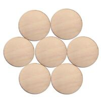 50 Unfinished Wooden Round Discs Embellishments Rustic 30mm Art Crafts A5Y2
