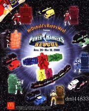 2000 McDonalds Power Rangers Rescue MIP Complete Set + Bonus,  Boys & Girls, 3+