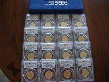 2007 PRESIDENTIAL P&D PCGS MS68 SATIN FINISH POSITION A&B 16-COIN DOLLAR SET