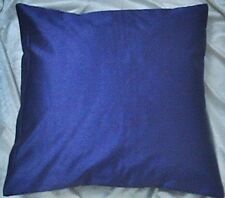 """Blue 30"""" Square 76 Cm Polyester Silk Cushion Cover Solid Pillow Case Throw"""