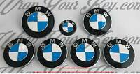 BIANCO & BLU SCURO M Sport BMW stemma Overlay COFANO BAULE CERCHI per tutte