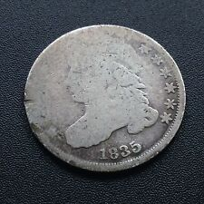 USA 1835 Dime Capped Bust 10 Cent Philadelphia Sehr Selten Silber 2180