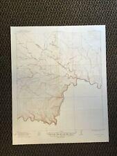 Vintage USGS Indian Wells Texas 1918 Topographic Map 1949