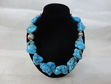 Berber Moroccan Imitation Turquoise Enameled beads Necklace