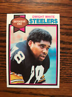 1979 Topps #145 Dwight White Football Card Pittsburgh Steelers NFL Raw