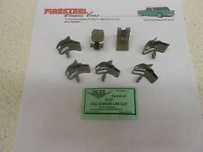 """1955 1956 1957 Chevy #20-361 FUEL & BRAKE LINE CLIPS - Set of 7  """"Outside Frame"""""""
