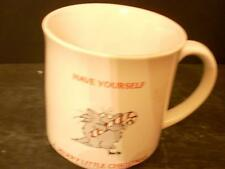 "BOYNTON CAT CHRISTMAS COFFEE CUP ""HAVE YOURSELF A MERRY LITTLE CHRISTMAS"" (3D)"