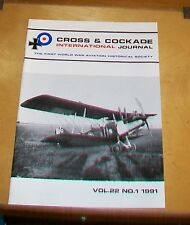 CROSS & COCKADE GREAT BRITAIN JOURNAL VOL 22  No 1 1991 DH2 PUSHER SCOUT  Pt 4
