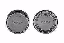Camera Body and Rear Lens Caps for Nikon D850 D7500 D5600 D3400 D500 D7200 D810A