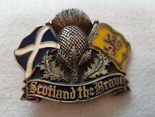 Scottish Patriot Gürtelschnalle Scotland The Brave Thistle & Flag
