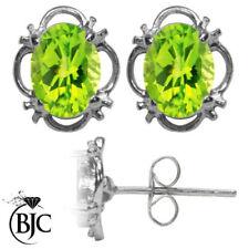 Pendientes de joyería mariposas verde con oro blanco
