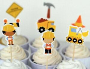 Construction Cupcake Topper X 24