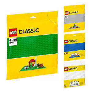 LEGO Basic Grundbauplatten Grundplatte Weiß Grün Grau Blau 48x48 32x32 Neu OVP
