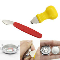 1/2 Pcs Watch Case Opener Stainless Steel Plastic Back Cover Remover Repair Tool