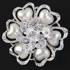 Bouquet Wedding Party Brooch Pins Jewelry New Fashion Women Crystal Pearl Flower