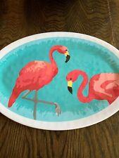 """tommy bahama melamine white Serving Tray Pink Flamingo 16"""""""