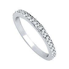 Anniversary Wedding Eternity Ring Band Women's 925 Solid Sterling Silver Cz