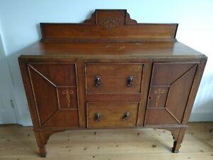 Antique Edwardian Oak Vintage Sideboard Dresser