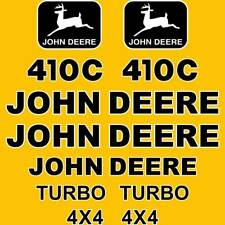 JOHN DEERE 410C BACKHOE LOADER REPRO DECAL SET