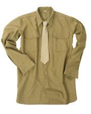 US Army Uniform m37 campo CAMICIA SENAPE MARRONE TAGLIA S WKII ww2 Field Shirt Mustard Officer