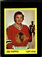 1973-74 TOPPS #112 JIM PAPPIN VG BLACKHAWKS NICELY CENTERED  *X2203