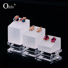 3pcs Acrylic Earrings Holder Exquisite Style Perspex Jewellery Display Stands