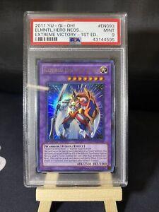 1st Edition Elemental Hero Neos Knight EXVC-EN093 Yu-Gi-Oh TCG Card PSA 9 MINT