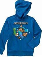 Minecraft Pullover Hoodie Sz 4-5 6-7 8 10-12 14-16 18 New Childs Sweatshirt Jinx